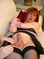 Horny Lucimay bound in rope and wanked hard