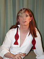 Tranny slut Lucimay smoking seductively