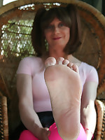 Foot fetish fun with Lucimay in this shoot